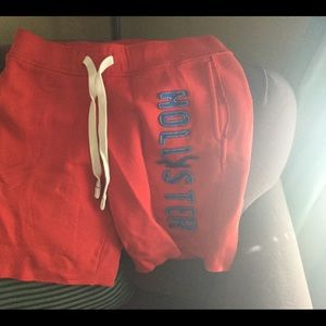 Hollister red men's sweat shorts size medium